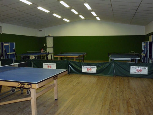 Salle tennis de table